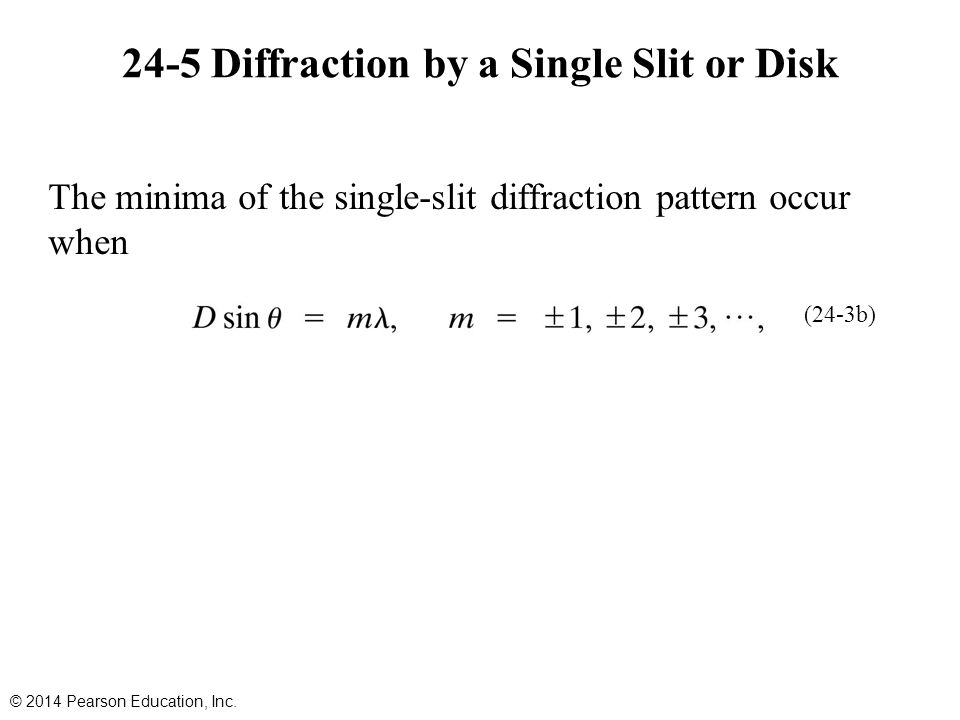 24-5 Diffraction by a Single Slit or Disk