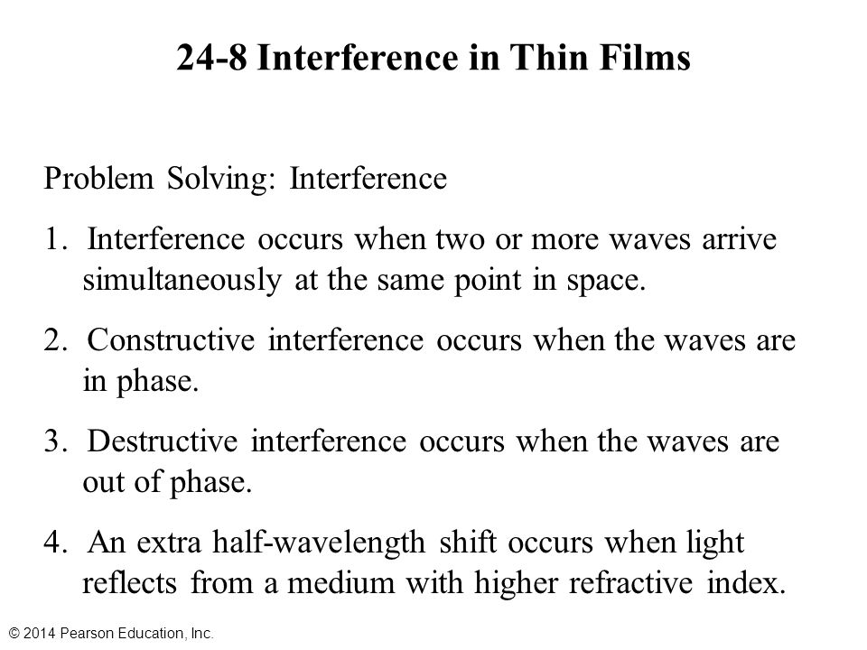 24-8 Interference in Thin Films