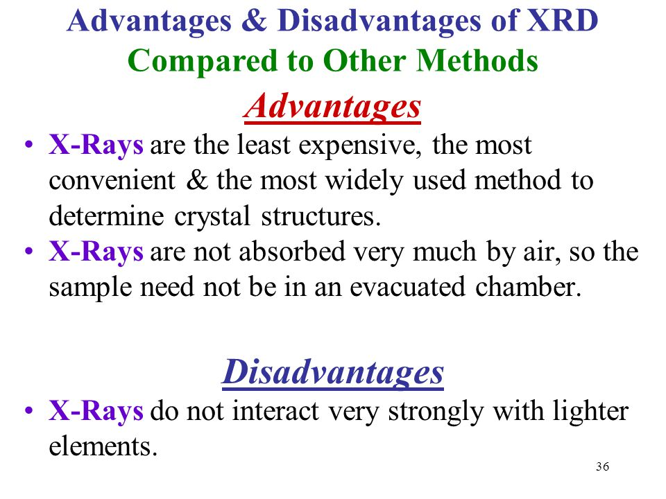 Advantages & Disadvantages of XRD Compared to Other Methods