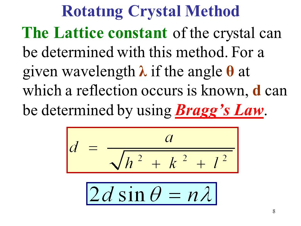 Rotatıng Crystal Method