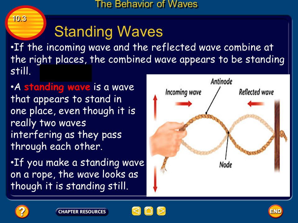 Standing Waves The Behavior of Waves