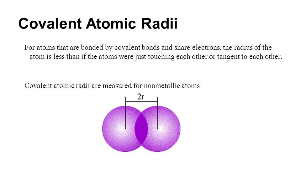 Covalent Atomic Radii