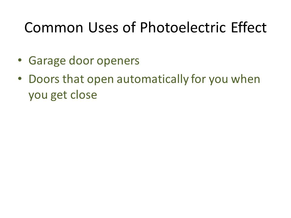 Common Uses of Photoelectric Effect