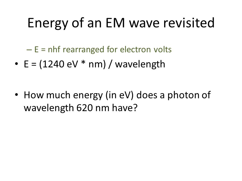 Energy of an EM wave revisited