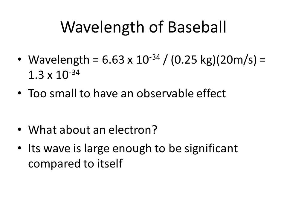 Wavelength of Baseball