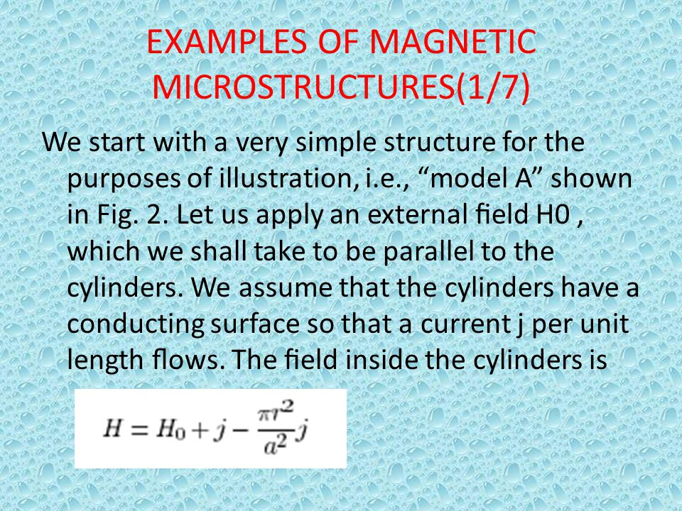 EXAMPLES OF MAGNETIC MICROSTRUCTURES(1/7)
