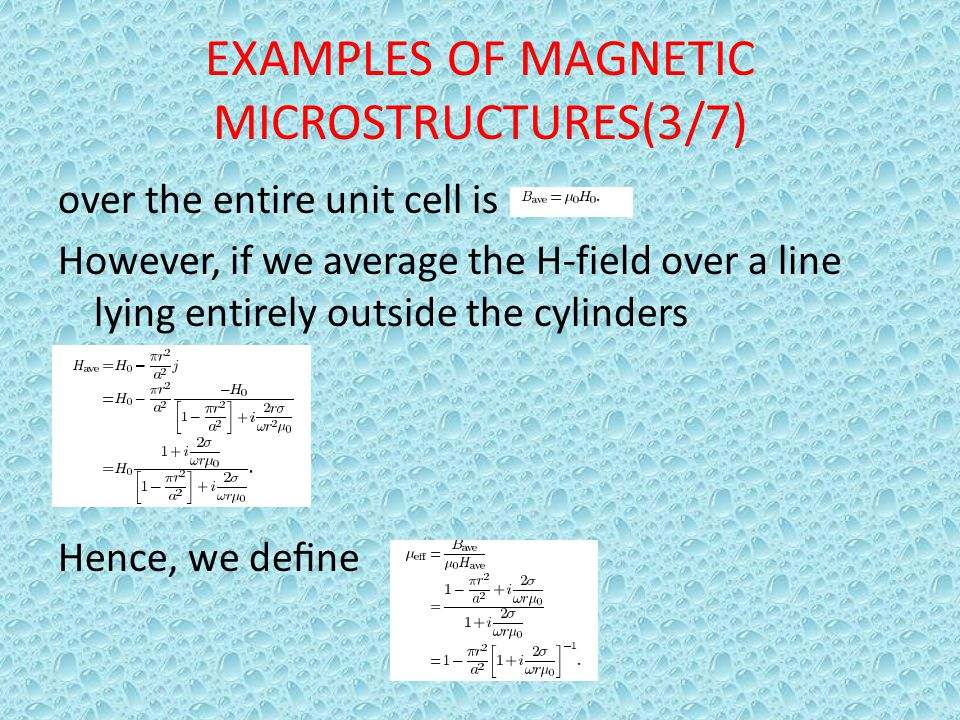EXAMPLES OF MAGNETIC MICROSTRUCTURES(3/7)