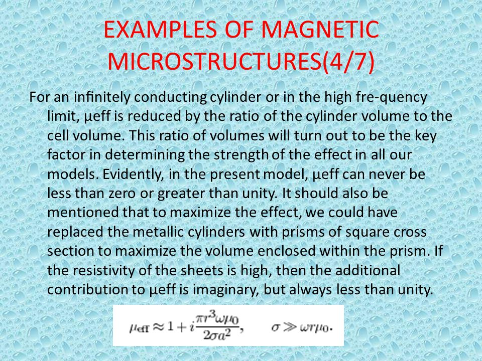 EXAMPLES OF MAGNETIC MICROSTRUCTURES(4/7)