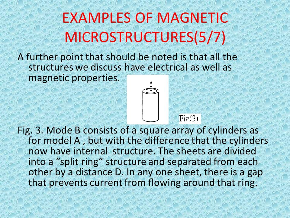 EXAMPLES OF MAGNETIC MICROSTRUCTURES(5/7)