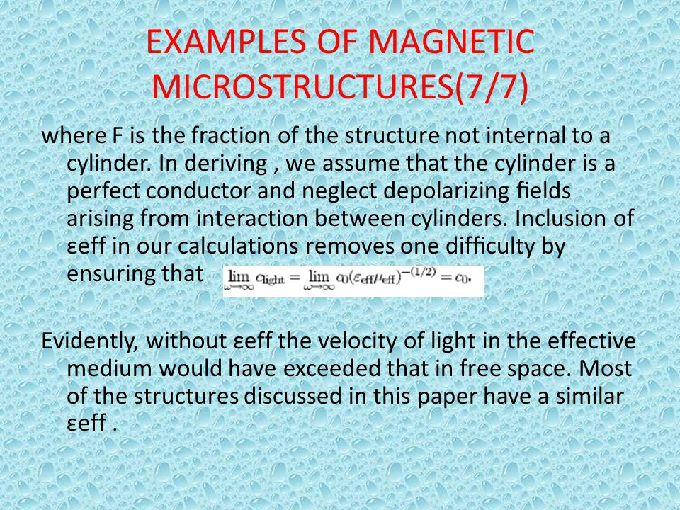 EXAMPLES OF MAGNETIC MICROSTRUCTURES(7/7)