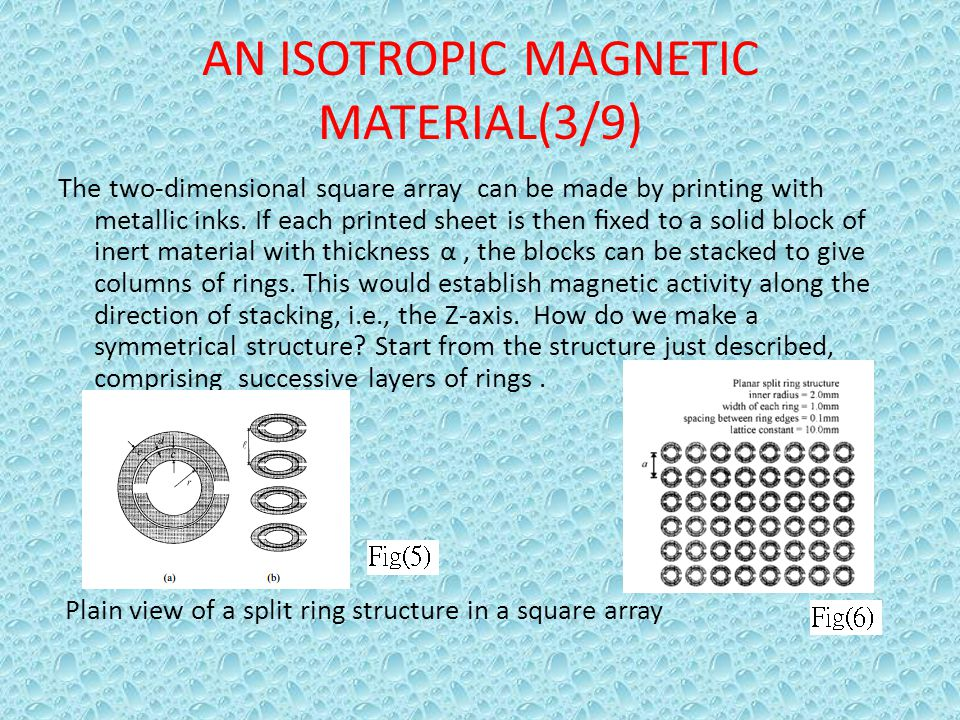 AN ISOTROPIC MAGNETIC MATERIAL(3/9)