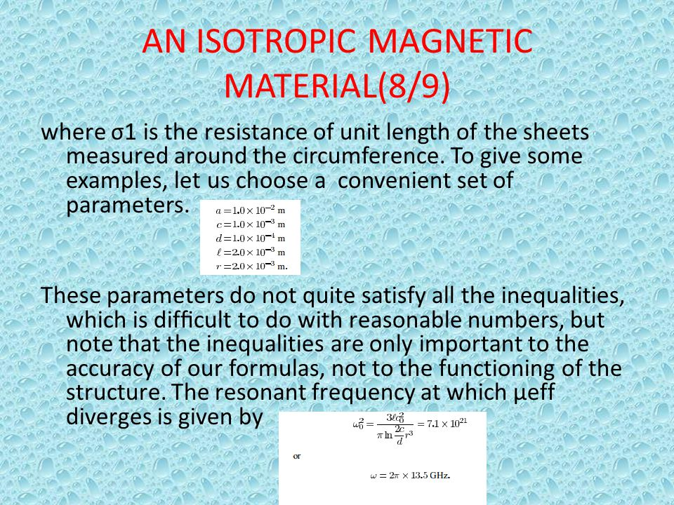 AN ISOTROPIC MAGNETIC MATERIAL(8/9)