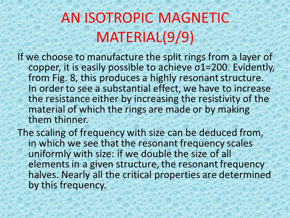 AN ISOTROPIC MAGNETIC MATERIAL(9/9)