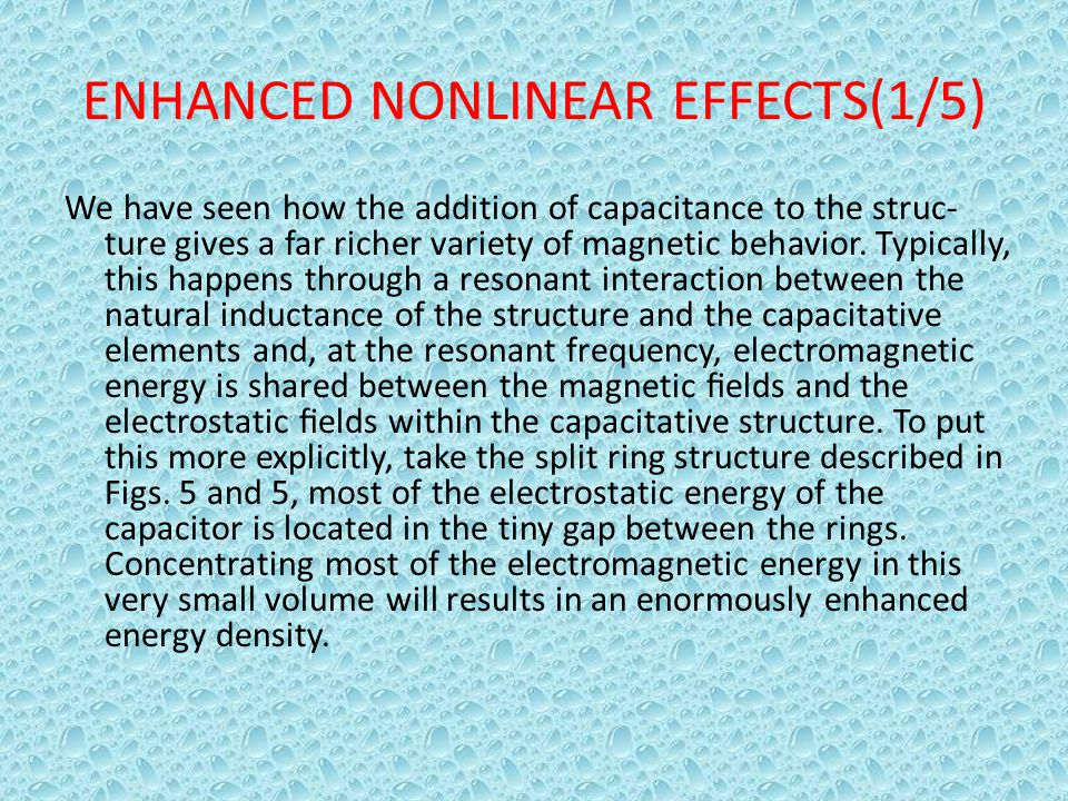ENHANCED NONLINEAR EFFECTS(1/5)