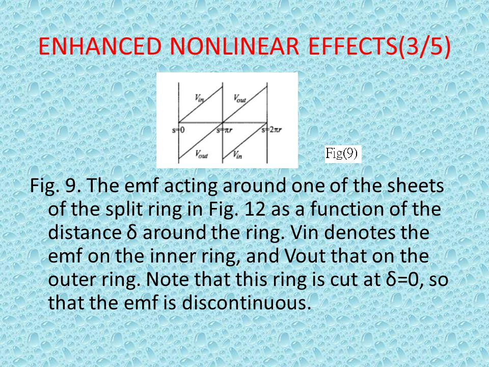 ENHANCED NONLINEAR EFFECTS(3/5)