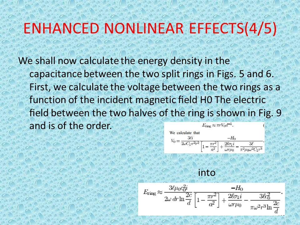 ENHANCED NONLINEAR EFFECTS(4/5)