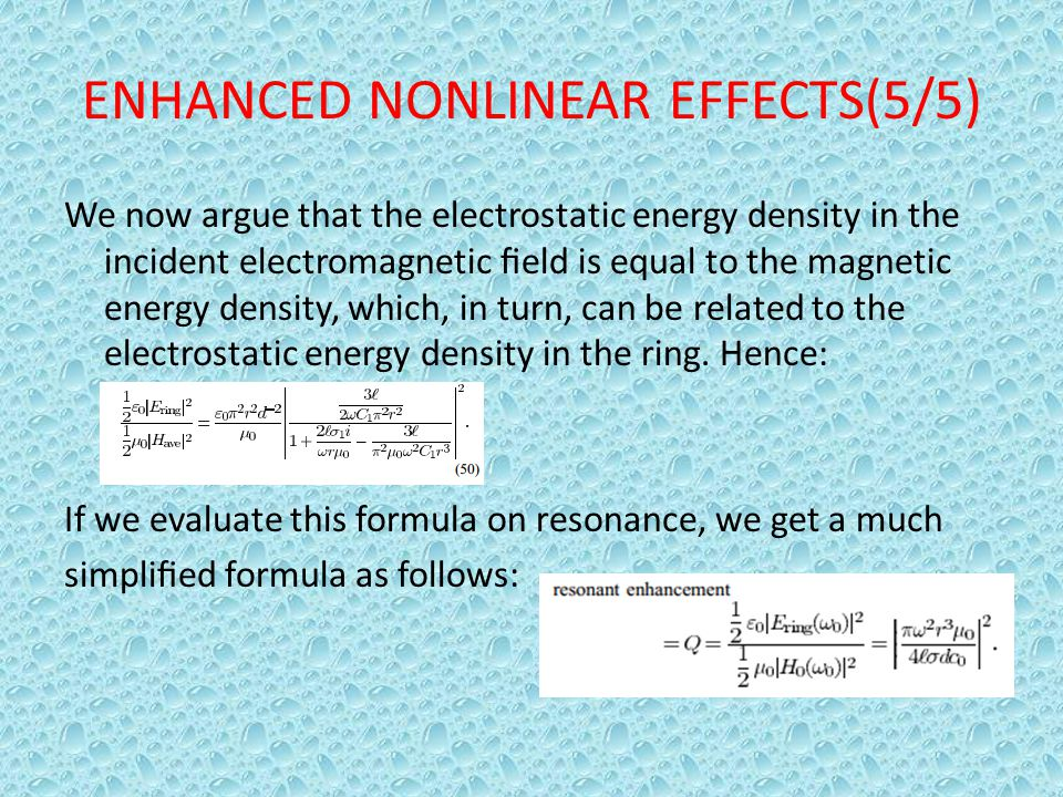 ENHANCED NONLINEAR EFFECTS(5/5)