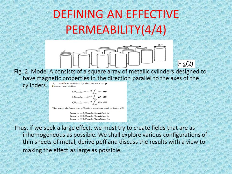DEFINING AN EFFECTIVE PERMEABILITY(4/4)