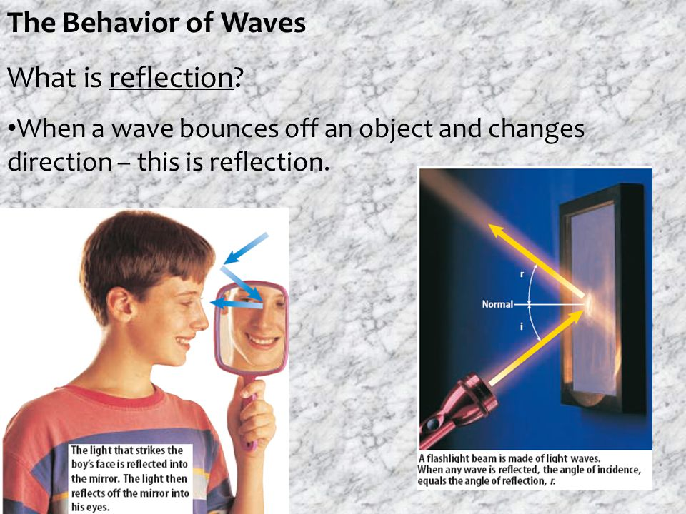 The Behavior of Waves What is reflection