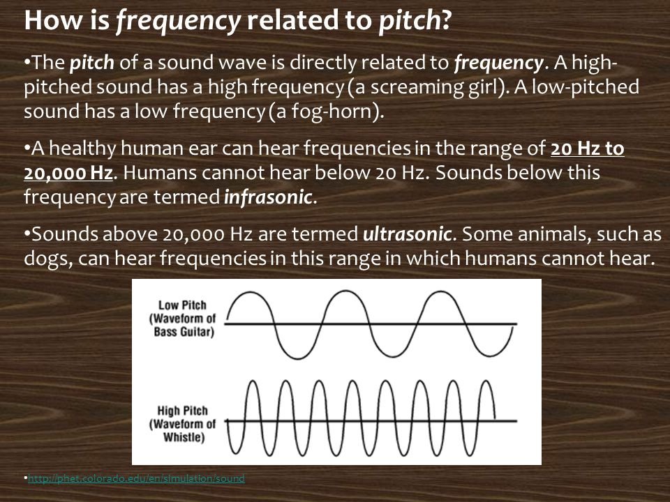 How is frequency related to pitch