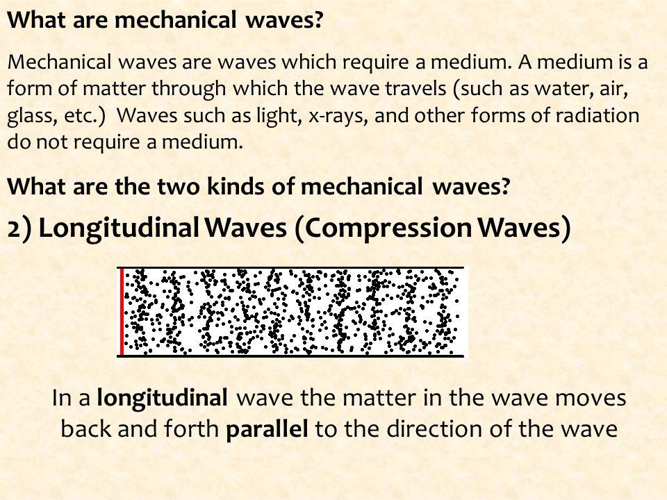 2) Longitudinal Waves (Compression Waves)