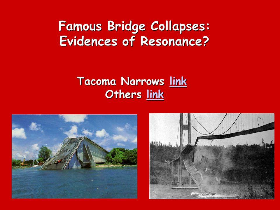 Famous Bridge Collapses: Evidences of Resonance