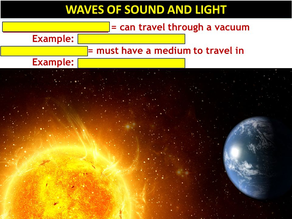 WAVES OF SOUND AND LIGHT