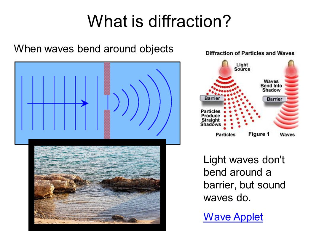 What is diffraction When waves bend around objects