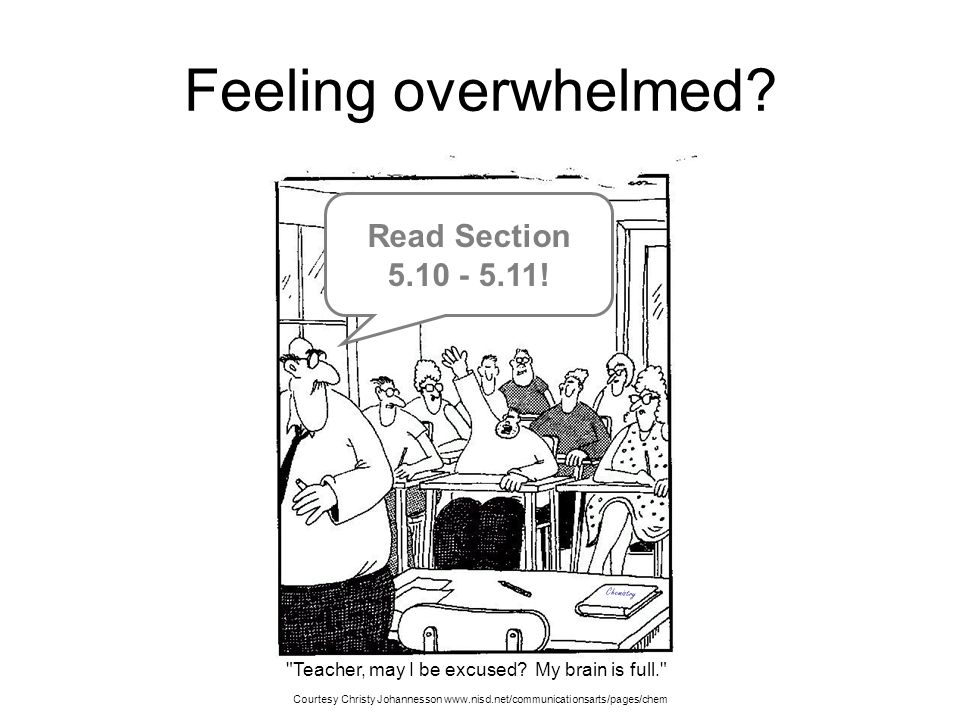 Feeling overwhelmed Read Section 5.10 - 5.11!