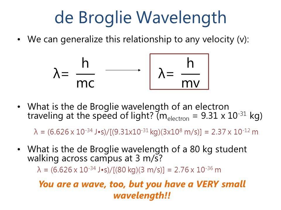 You are a wave, too, but you have a VERY small wavelength!!