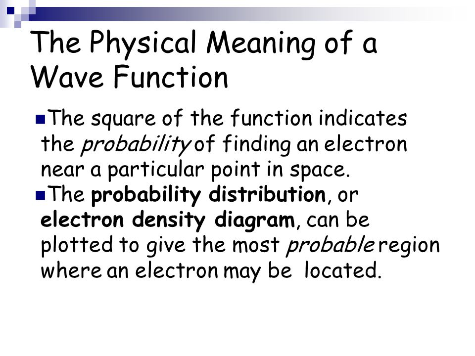 The Physical Meaning of a Wave Function