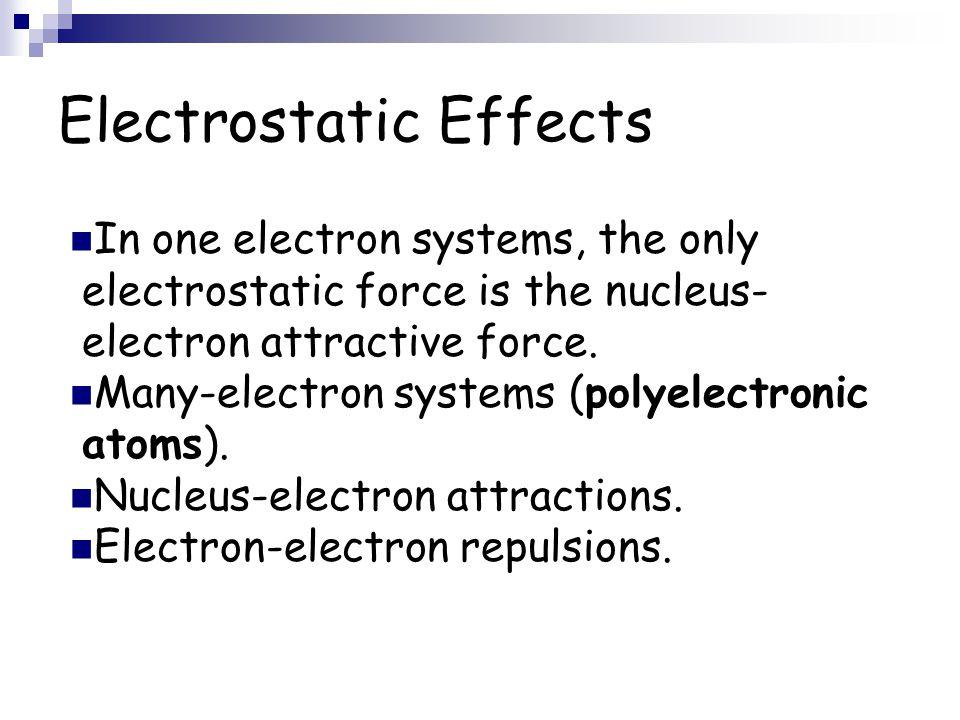 Electrostatic Effects