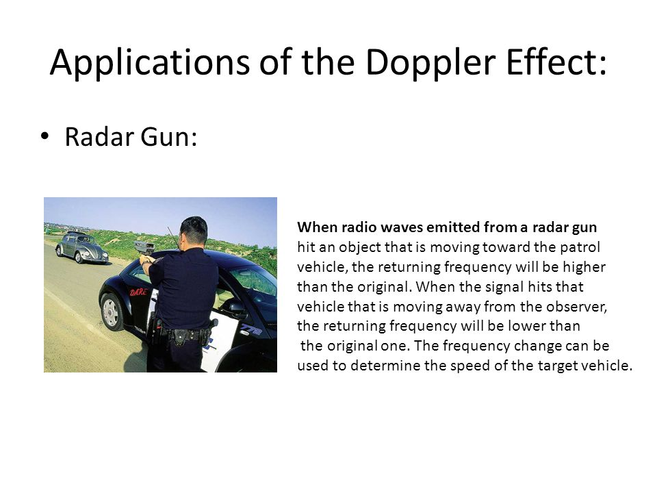 Applications of the Doppler Effect: