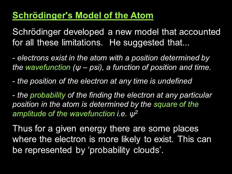 Schrödinger s Model of the Atom