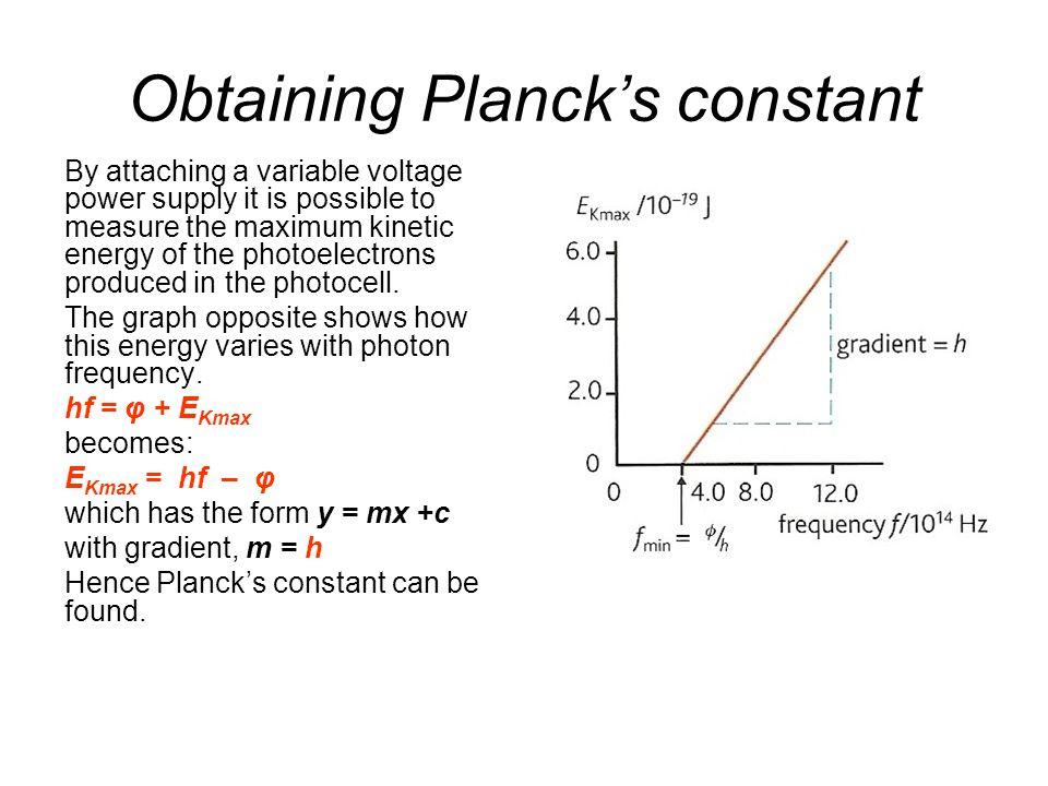 Obtaining Planck's constant