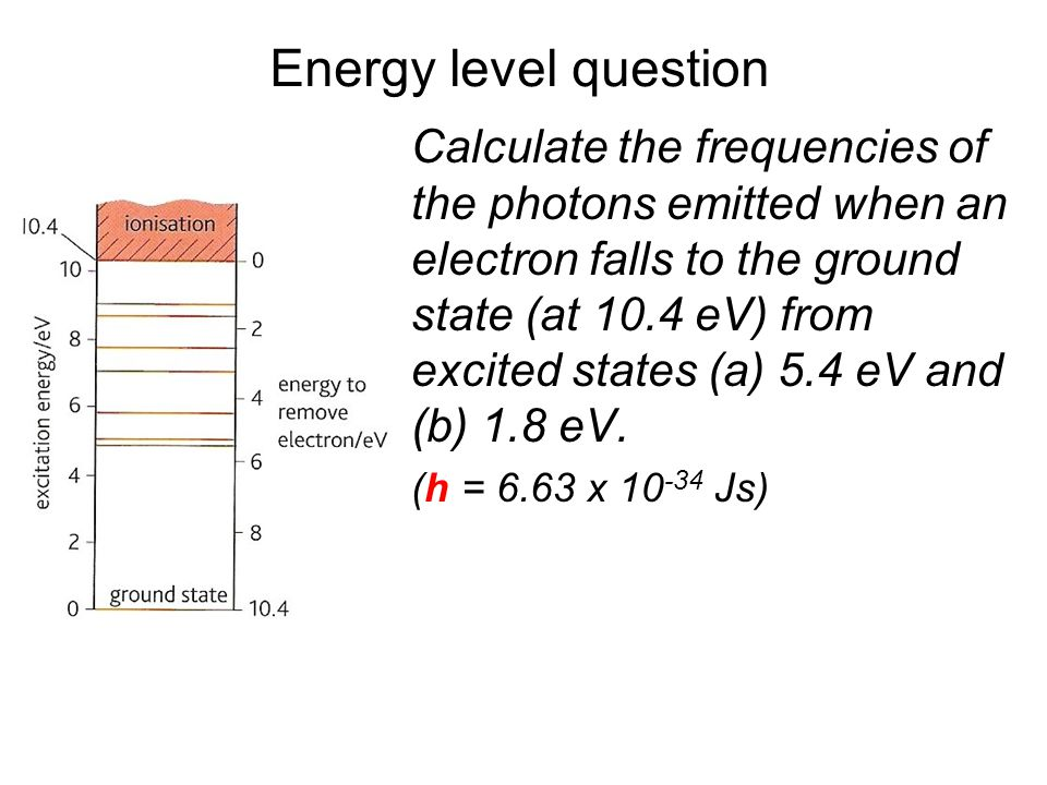 Quantum Phenomena Breithaupt pages 30 to 43. Energy level question.