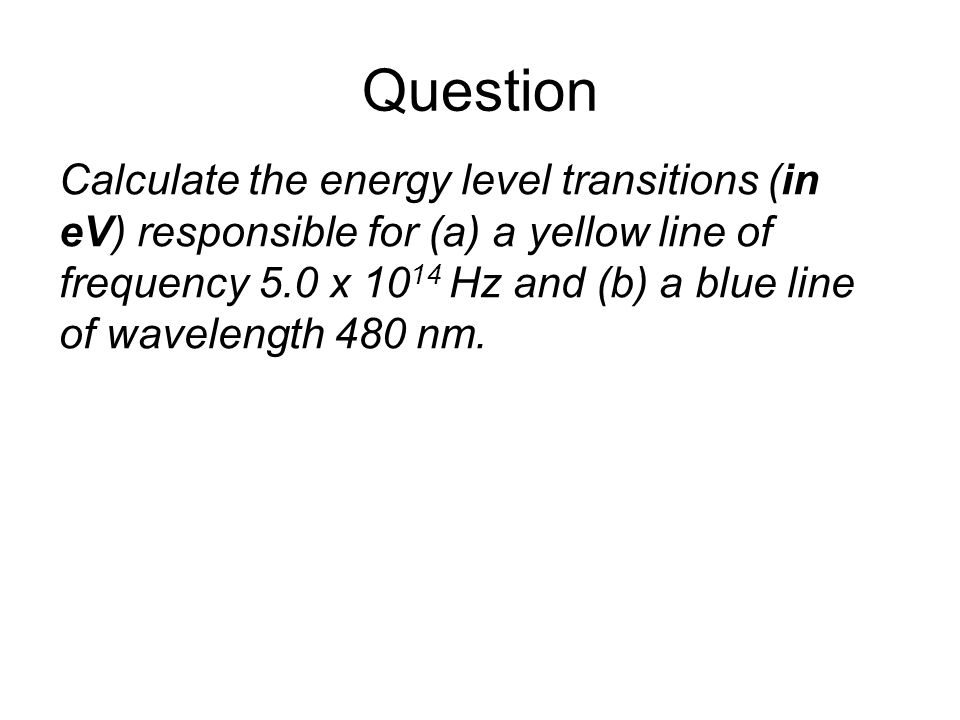 Quantum Phenomena Breithaupt pages 30 to 43. Question.