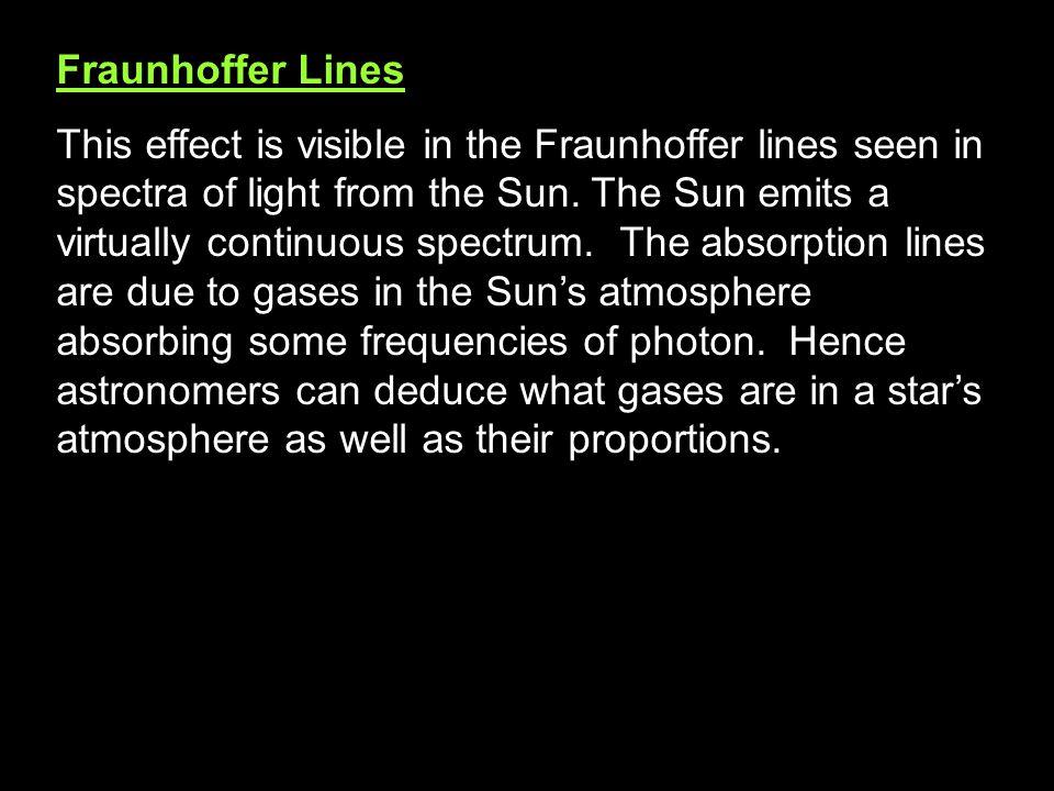 Fraunhoffer Lines