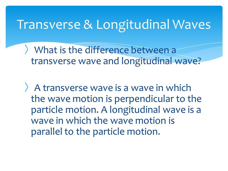 Transverse & Longitudinal Waves