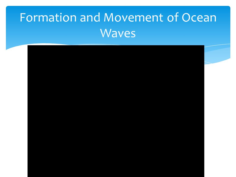 Formation and Movement of Ocean Waves