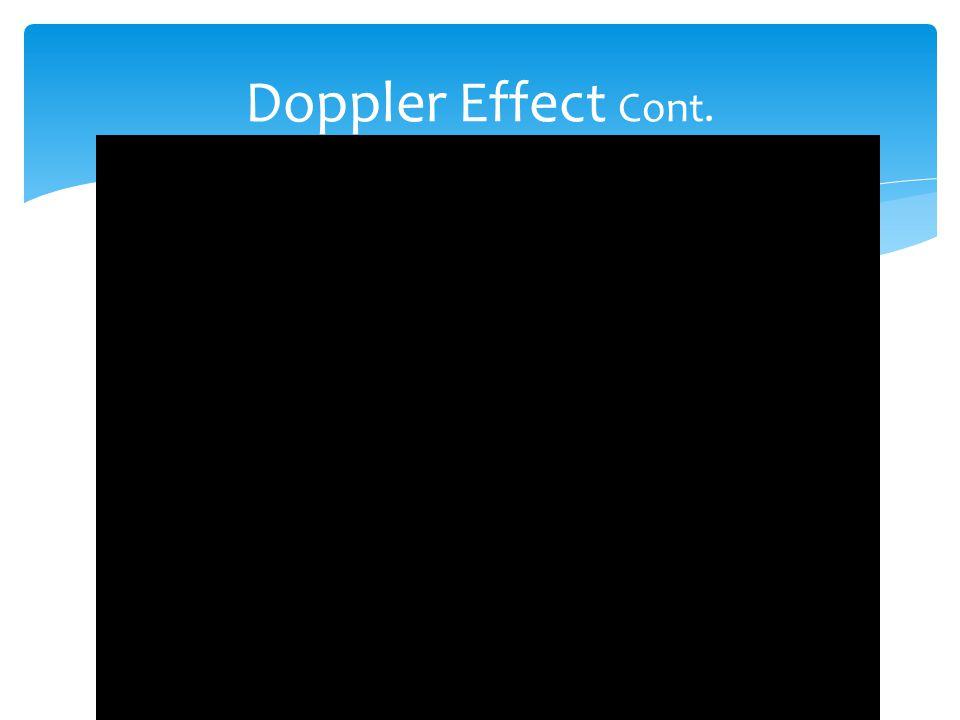Doppler Effect Cont.