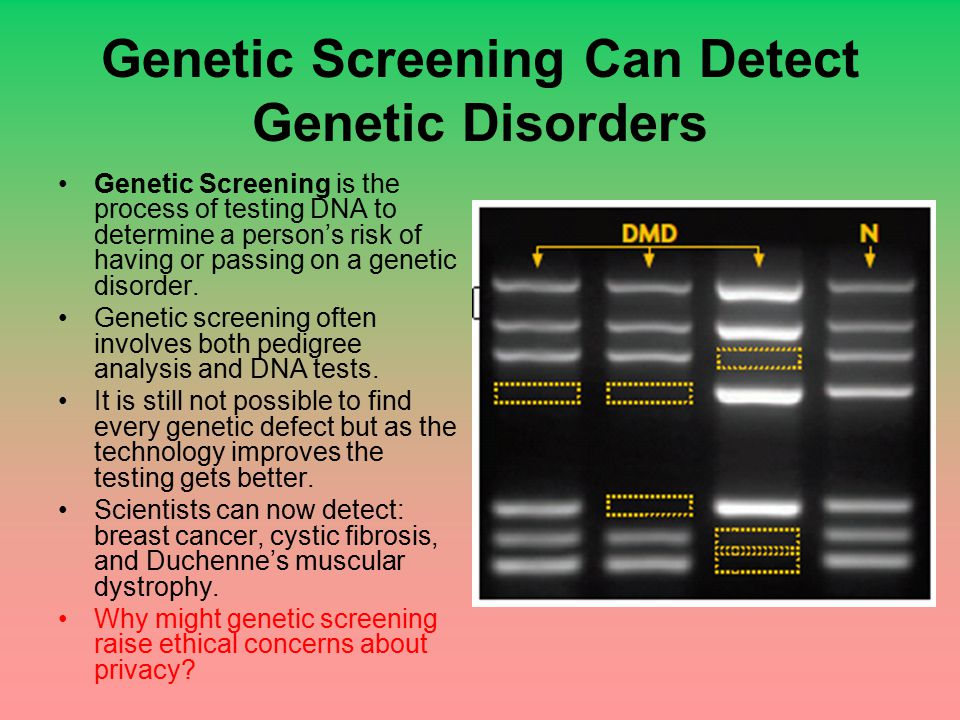 Genetic Screening Can Detect Genetic Disorders
