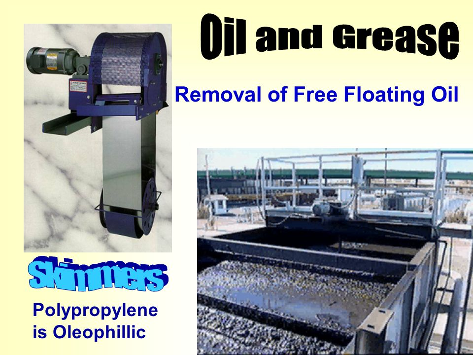 Oil and Grease Skimmers Removal of Free Floating Oil Polypropylene