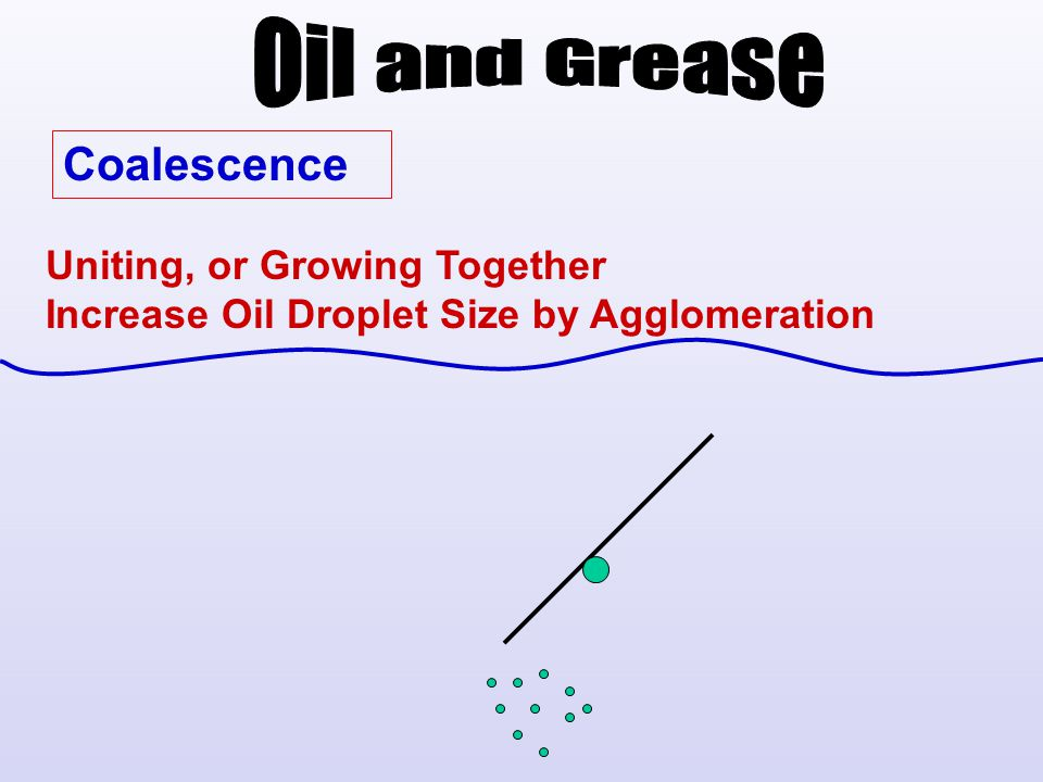 Oil and Grease Coalescence Uniting, or Growing Together