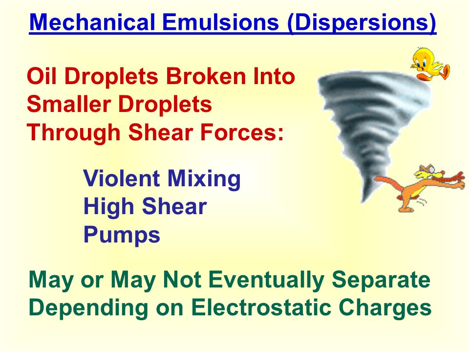 Mechanical Emulsions (Dispersions)