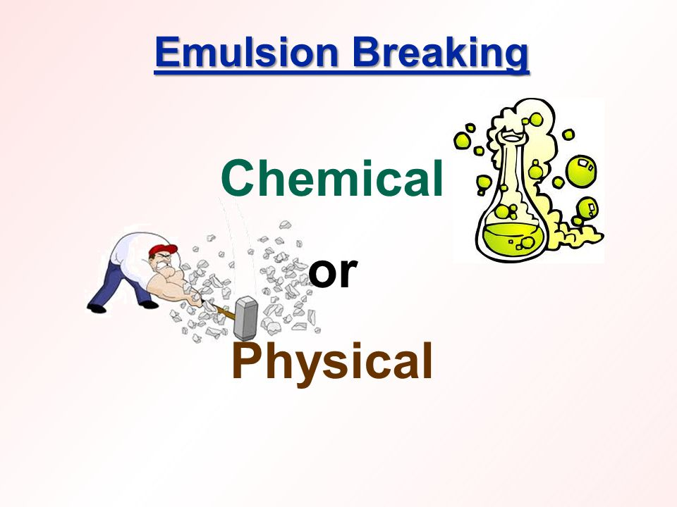 Emulsion Breaking Chemical or Physical