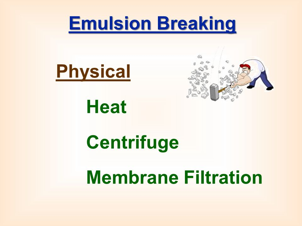 Emulsion Breaking Physical Heat Centrifuge Membrane Filtration
