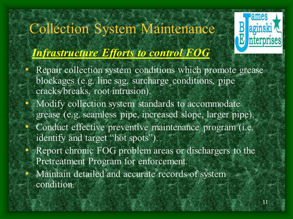 Collection System Maintenance