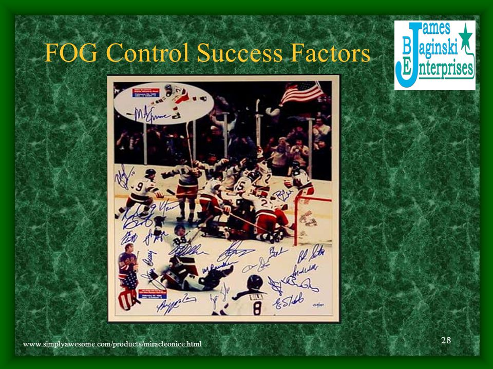 FOG Control Success Factors