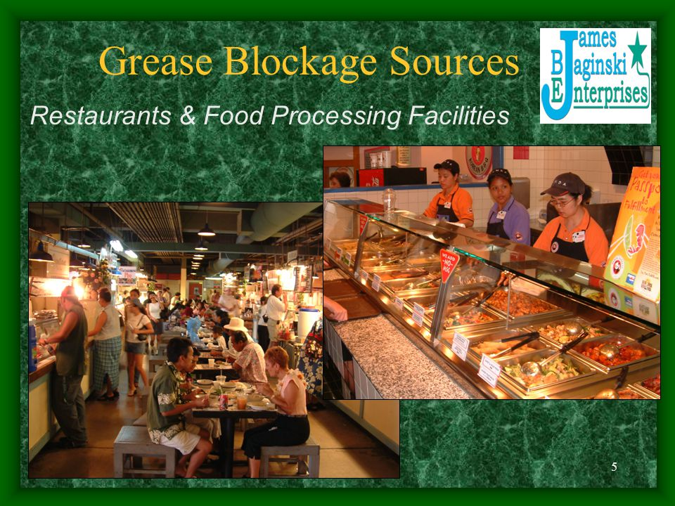 Grease Blockage Sources